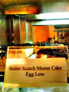 Dessert at a vegetarian café