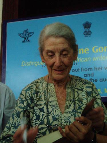 Dr. Nadine Gordimer, Durbar Hall