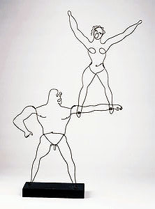 Two Acrobats by Alexander Calder. Sridhar and Thayil are much skinnier.