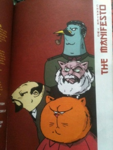 Leaders of the revolution: Starling, Karl Minx, Lemming and Meow