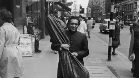 A young Ravi Shankar in London
