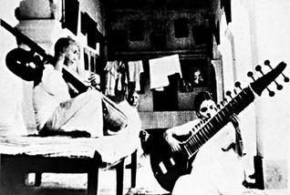 Baba Allaudin Khan with Annapurna Devi