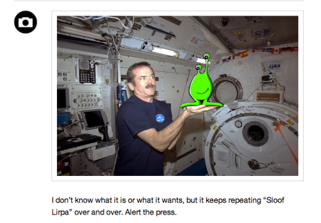 From Hadfield's Tumblr