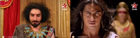 Left: Shakuni. Right: Dhritarashtra. (Yes, they're *acting*)