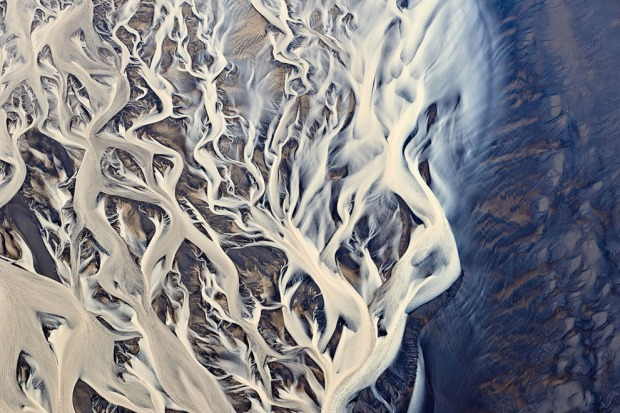 River delta, Iceland, by Emmanuel Coupe